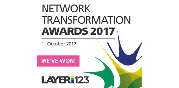 Layer 123 Network Transformation Award 2017 banner